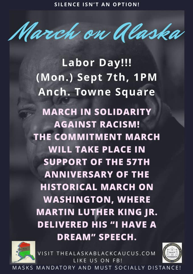 March on Alaska Flyer - Monday, September 7, 2020 at 1:00 PM – 3:30 PM AKDT - Anchorage Towne Square