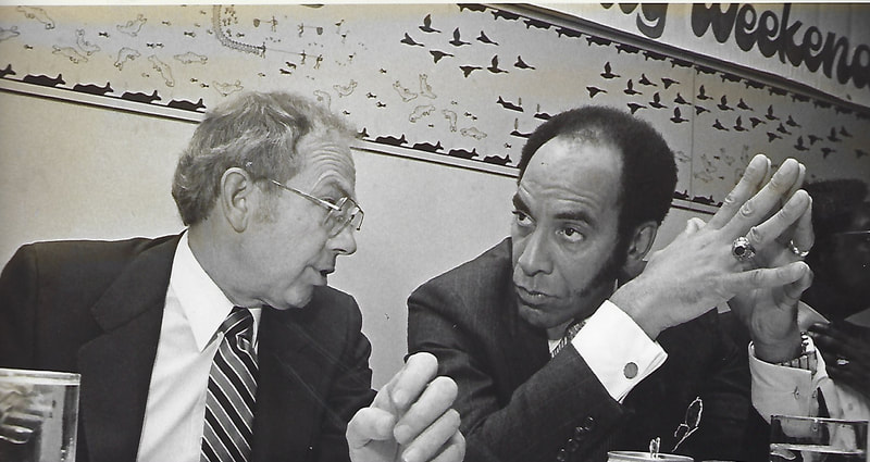 ABC Solidarity Weekend keynote speaker, Black Enterprise publisher, Earl Graves and Governor Bill Sheffield, June 1983.